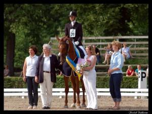 My Princess e His Highness,  vinnare av Kungakannan och 3-årschampionatet i dressyr.